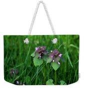 Macro Blooming Clover Weekender Tote Bag