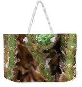 Macro Fern Sprout Weekender Tote Bag