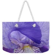 Macro Irises Close Up Purple Iris Flowers Giclee Art Prints Baslee Troutman Weekender Tote Bag