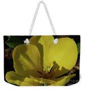 Macro Of A Flowering Yellow Tulip Up Close Weekender Tote Bag