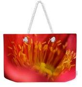 Macro Poppy 4 Weekender Tote Bag