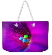 Macro Purple Flower Weekender Tote Bag