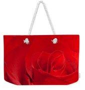Macro Red Rose Weekender Tote Bag