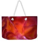 Macro Rose Weekender Tote Bag