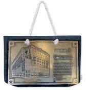 Macy's Centennial Plaque Weekender Tote Bag