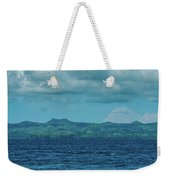 Madagascar, Nosy Be, Small Boat In Sea Weekender Tote Bag
