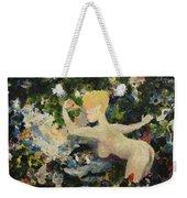 Madame De Pompadour In The Garden Of Eden Weekender Tote Bag