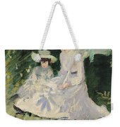 Madame Helleu And Her Daughter At The Chateau Of Boudran Weekender Tote Bag by Paul Cesar Helleu