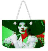 Madame Kate And The Big Hat Weekender Tote Bag