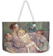 Madame Van De Velde And Her Children Weekender Tote Bag by Theo van Rysselberghe