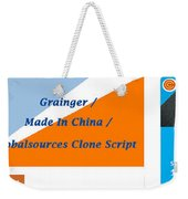 Made In China Clone - Made In China Script Weekender Tote Bag