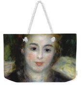 Mademoiselle Henriot Or Young Girl With A Blue Ribbon Weekender Tote Bag