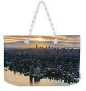 Madison Park And The Seattle Skyline Weekender Tote Bag