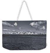 Madison Skyline - Black And White Weekender Tote Bag