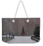 Madison Square Park In The Snow At Christmas Weekender Tote Bag