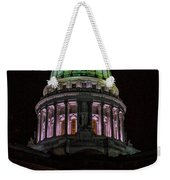 Madison Wi At Night Weekender Tote Bag