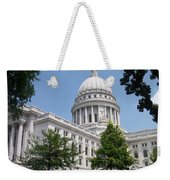 Madison Wi State Capitol Weekender Tote Bag by Anita Burgermeister