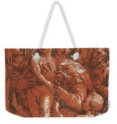 Madonna And Child Accompanied By Saints Weekender Tote Bag