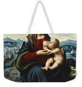 Madonna And Child Before A Landscape Weekender Tote Bag