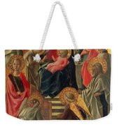 Madonna And Child Enthroned With Angels And Saints Weekender Tote Bag
