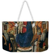 Madonna And Child Enthroned With Saints And Angels Weekender Tote Bag