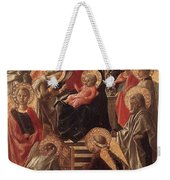 Madonna And Child Enthroned With Saints Fra Filippo Lippi Weekender Tote Bag