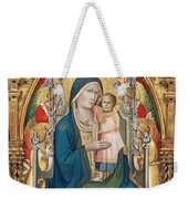 Madonna And Child Enthroned With Twelve Angels Weekender Tote Bag