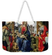 Madonna And Child Weekender Tote Bag by Filippino Lippi