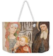 Madonna And Child Fresco, Italy Weekender Tote Bag