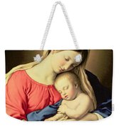 Madonna And Child Weekender Tote Bag by Il Sassoferrato