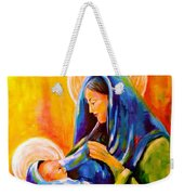 Madonna And Child Painting Weekender Tote Bag