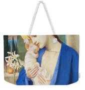 Madonna And Child Weekender Tote Bag by Marianne Stokes