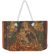 Madonna And Child Seated On A Grassy Bank With Angels Weekender Tote Bag