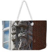 Madonna And Child Statue On The Corner Of A House In Bruges Weekender Tote Bag