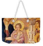Madonna And Child Surrounded By Angels Weekender Tote Bag