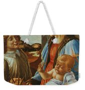 Madonna And Child With An Angel Weekender Tote Bag