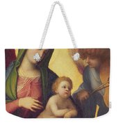 Madonna And Child With Angels Weekender Tote Bag