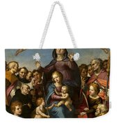 Madonna And Child With Saint Anne And The Patron Saints Of Florence Weekender Tote Bag
