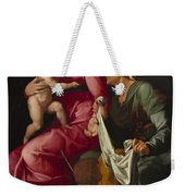 Madonna And Child With Saint Elizabeth And Saint John The Baptist Weekender Tote Bag