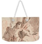 Madonna And Child With Saint Weekender Tote Bag