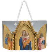Madonna And Child With Saint Peter And Saint John The Evangelist [middle Panel] Weekender Tote Bag