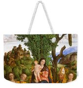 Madonna And Child With Saints Weekender Tote Bag