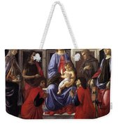 Madonna And Child With Six Saints Weekender Tote Bag