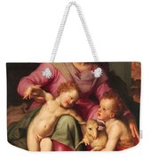 Madonna And Child With The Infant Saint John The Baptist Weekender Tote Bag