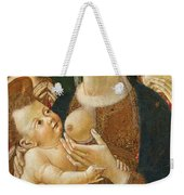 Madonna And Child With Two Angels Weekender Tote Bag