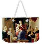 Madonna Del Baldacchino Raffaello Sanzio Da Urbino Raphael Raffaello Santi Weekender Tote Bag