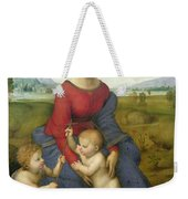 Madonna In The Meadow Weekender Tote Bag by Raphael