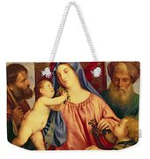 Madonna Of The Cherries With Joseph Weekender Tote Bag