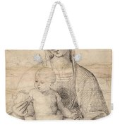 Madonna Of The Pomegranate Weekender Tote Bag