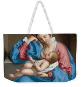 Madonna With The Infant Christ Child Holding A Goldfinch On A String  Weekender Tote Bag